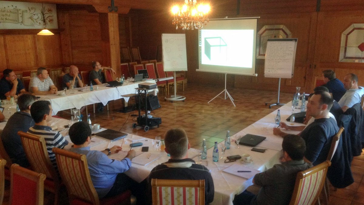 Klaes Export Meeting - Our international sales team during the training