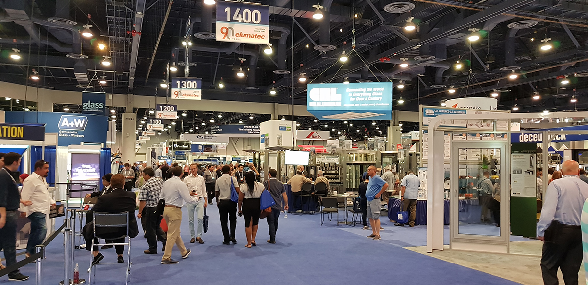 The GlassBuild is not only the contact point for visitors from the USA ...