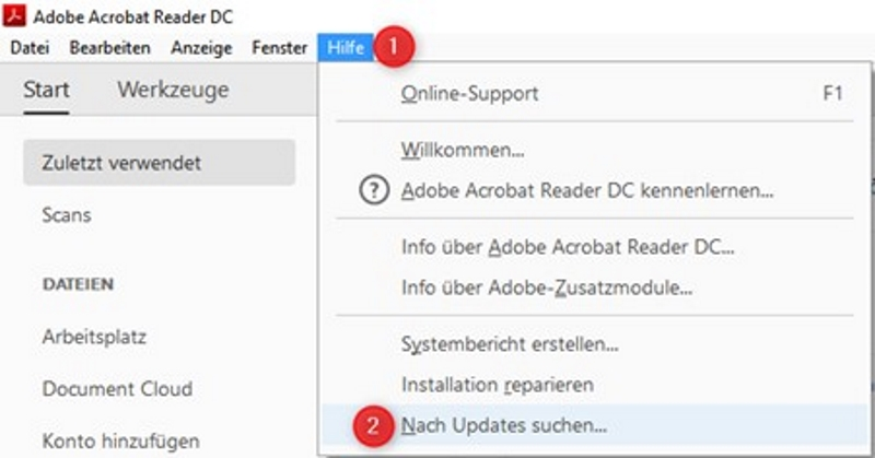 Acrobat Reader Update