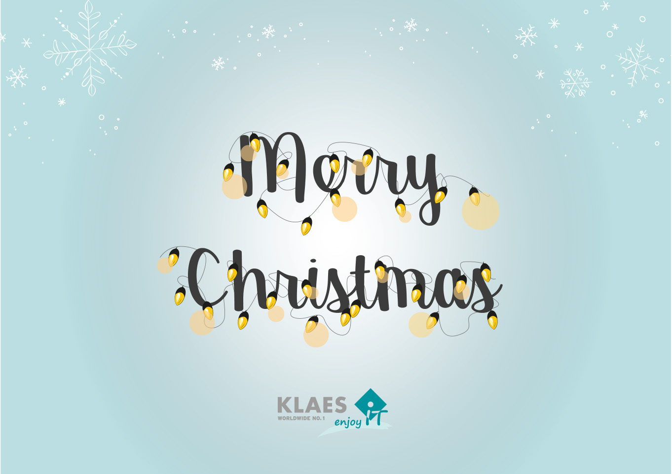 Klaes wishes a Merry Christmas