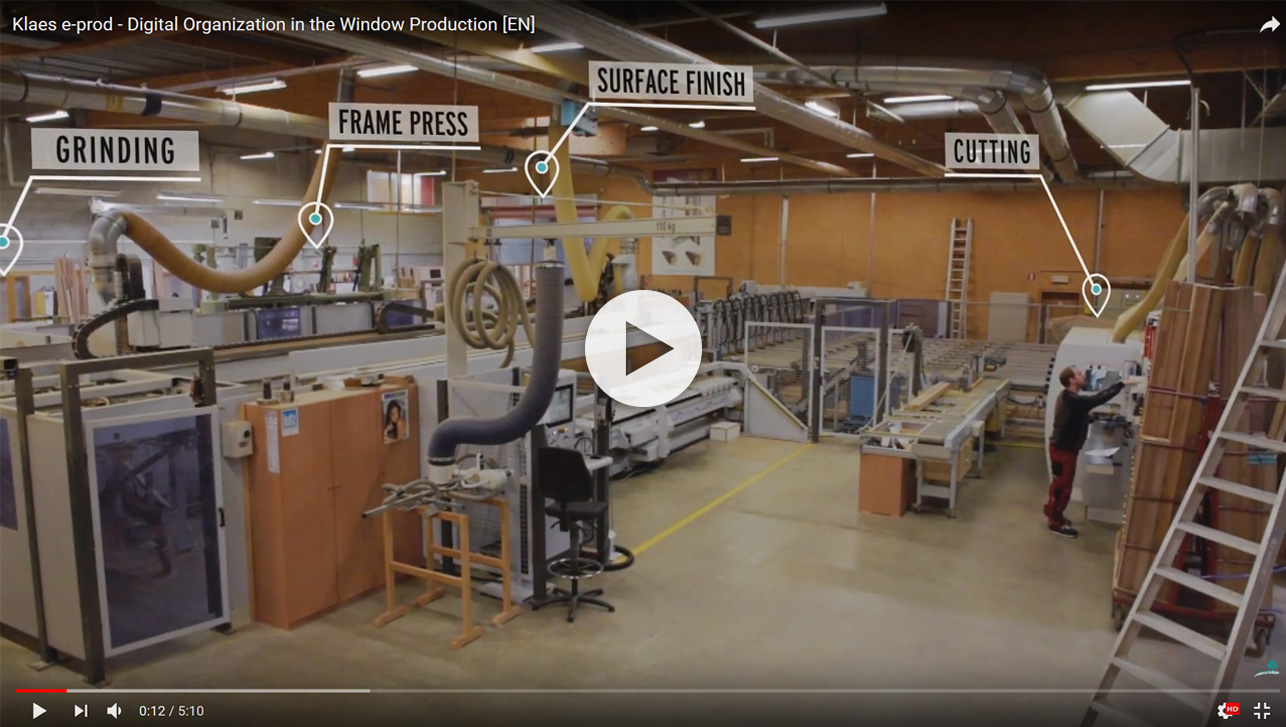 Digital organisation in wooden window production - film Klaes e-prod