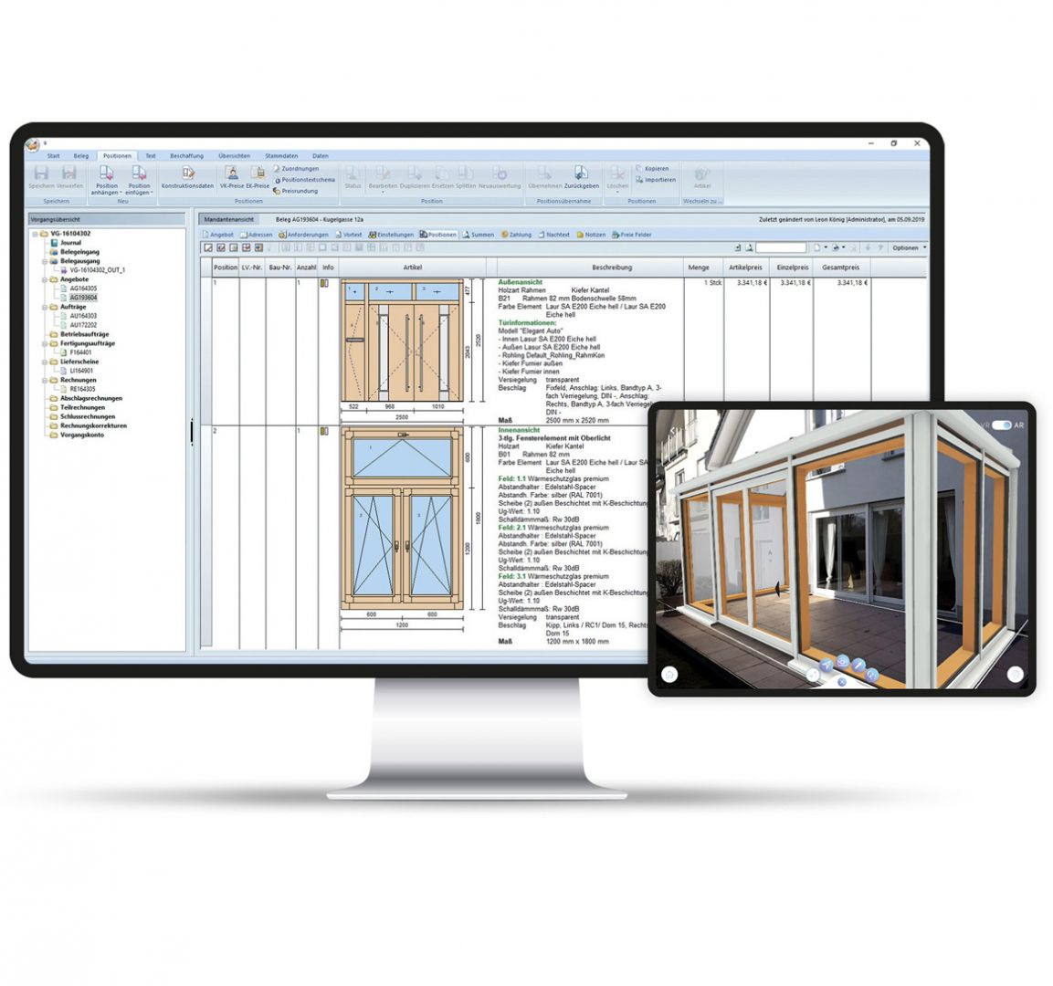 Windows, facades, doors or conservatories - Klaes organises the workflows